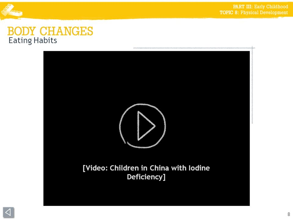 Eating Habits 8 [Video: Children in China with Iodine Deficiency]