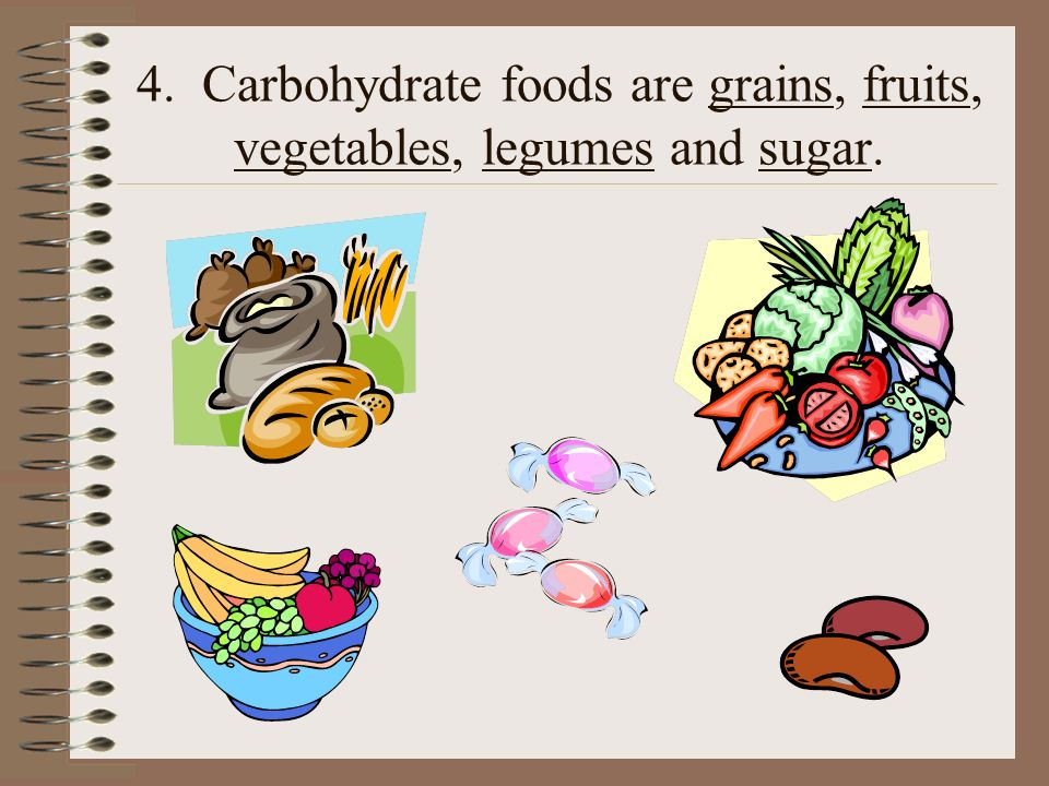 Simple Carbohydrates 5.Simple carbohydrates are quick energy sources.