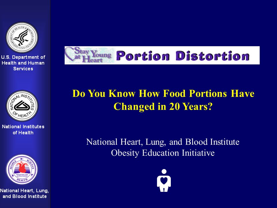 Do You Know How Food Portions Have Changed in 20 Years? National Heart, Lung, and Blood Institute Obesity Education Initiative