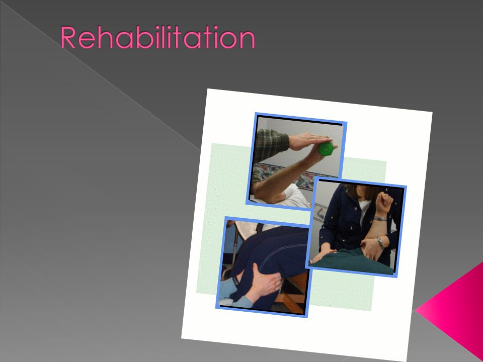 Symptoms Inflammation, swelling and loss of function Goals Decrease pain, swelling and inflammation Increase ROM Maintain strength of unaffected limb X-over effect Maintain cardiovascular conditioning Examples Immobilization Braces Crutches Isometric exercises Cross Train Bike or pool Modalities Muscle Stimulation RICE