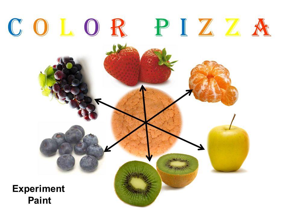 Color Pizza Experiment Paint