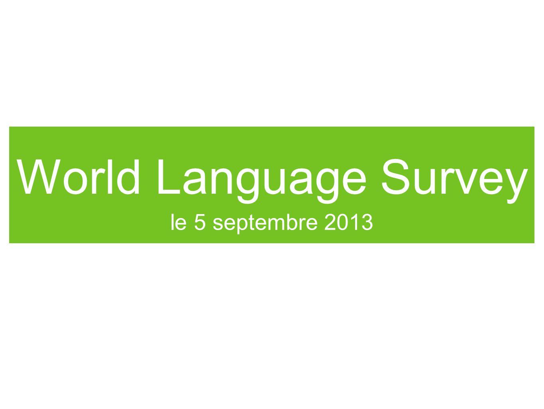 World Language Survey le 5 septembre 2013