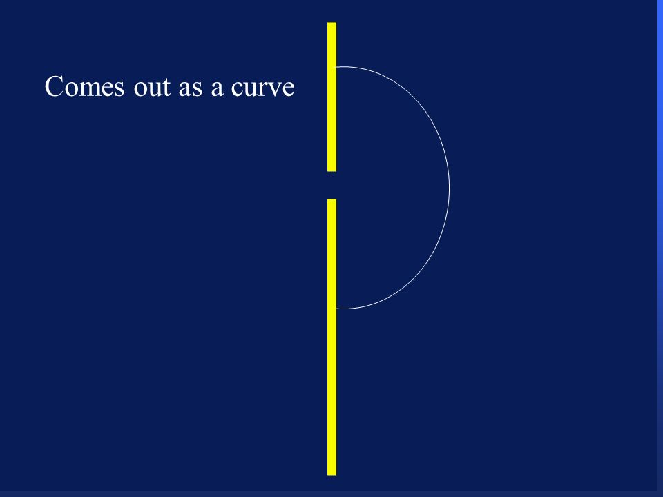 16 Comes out as a curve