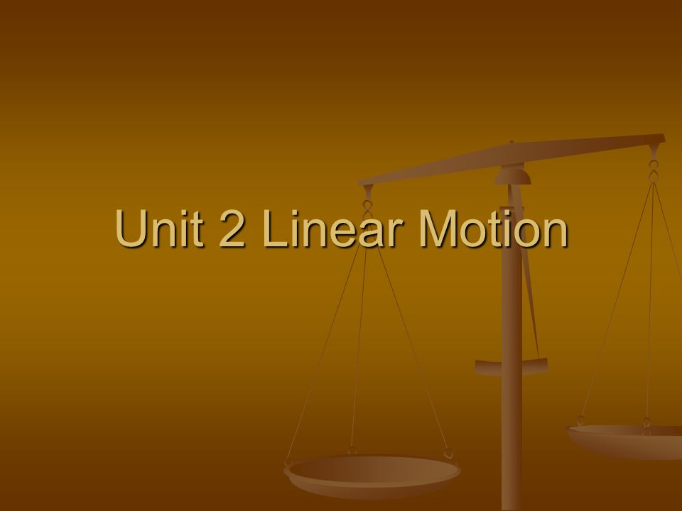 I.Outline A. A. Motion defined 1. 1. Position vs.