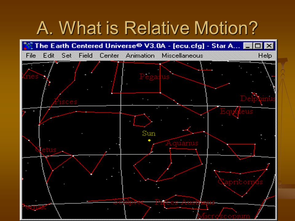 A. What is Relative Motion?