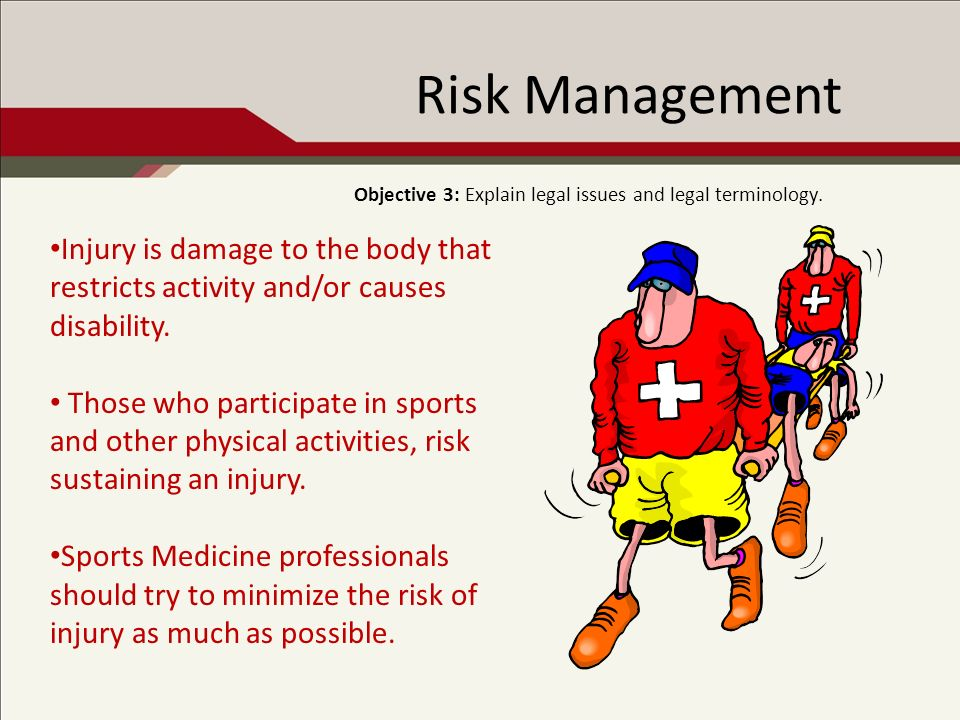 Risk Management: Types of Sports Athletes use their body to deter or punish opponents.