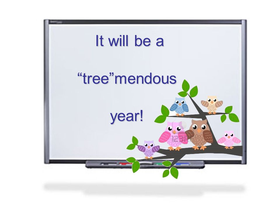 It will be a treemendous year!