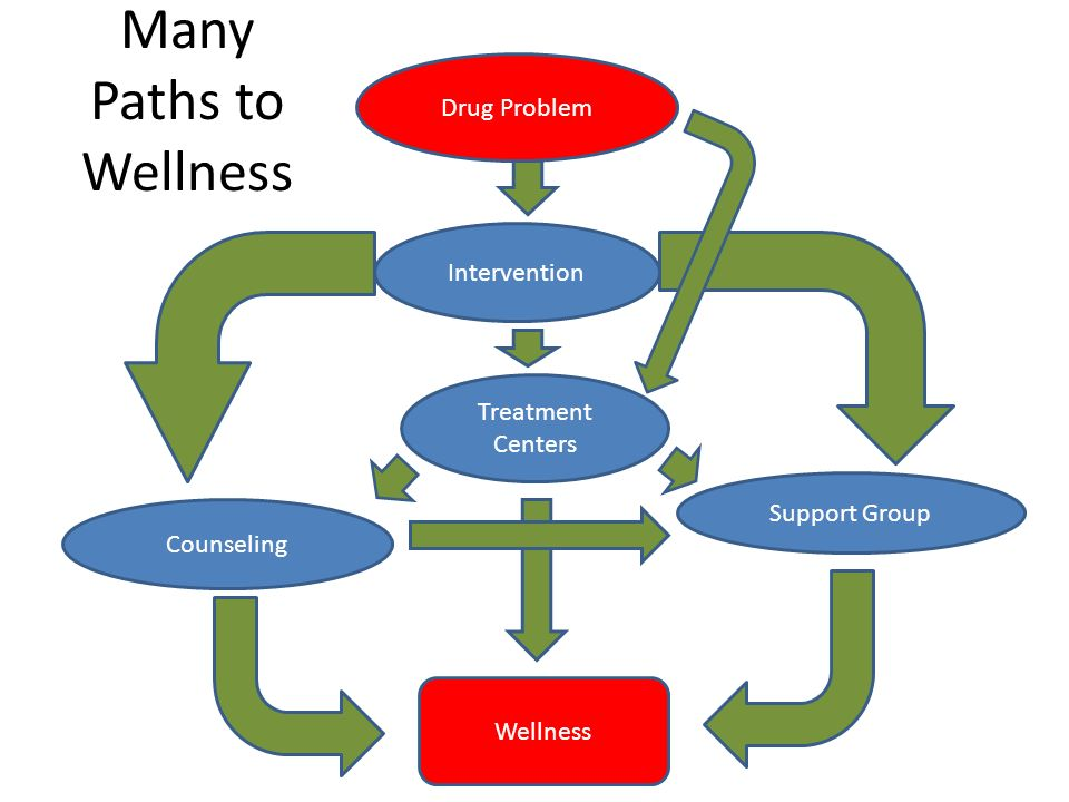 Many Paths to Wellness Drug Problem Intervention Counseling Treatment Centers Support Group Wellness