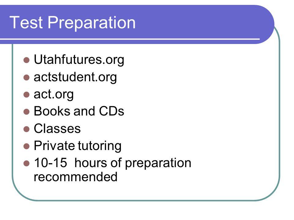 Available Classes: Kaplan: $700 + Sylvan Learning Center: $595 + U of U: $220 + Online – utahfutures.org: free