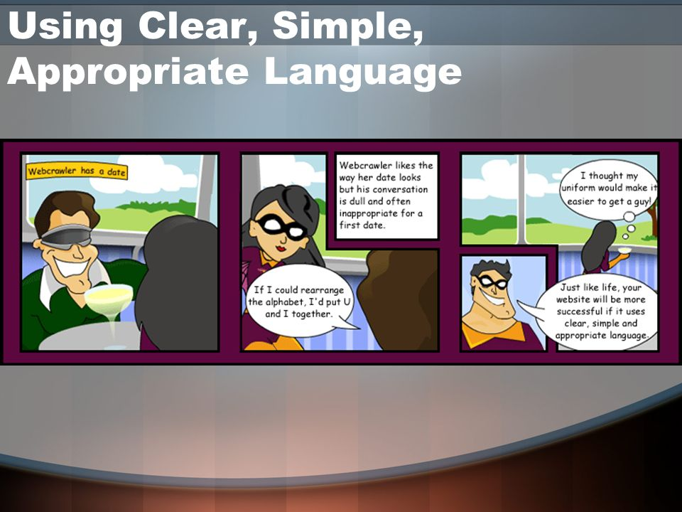 Using Clear, Simple, Appropriate Language