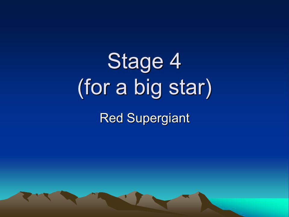 Stage 4 (for a big star) Red Supergiant