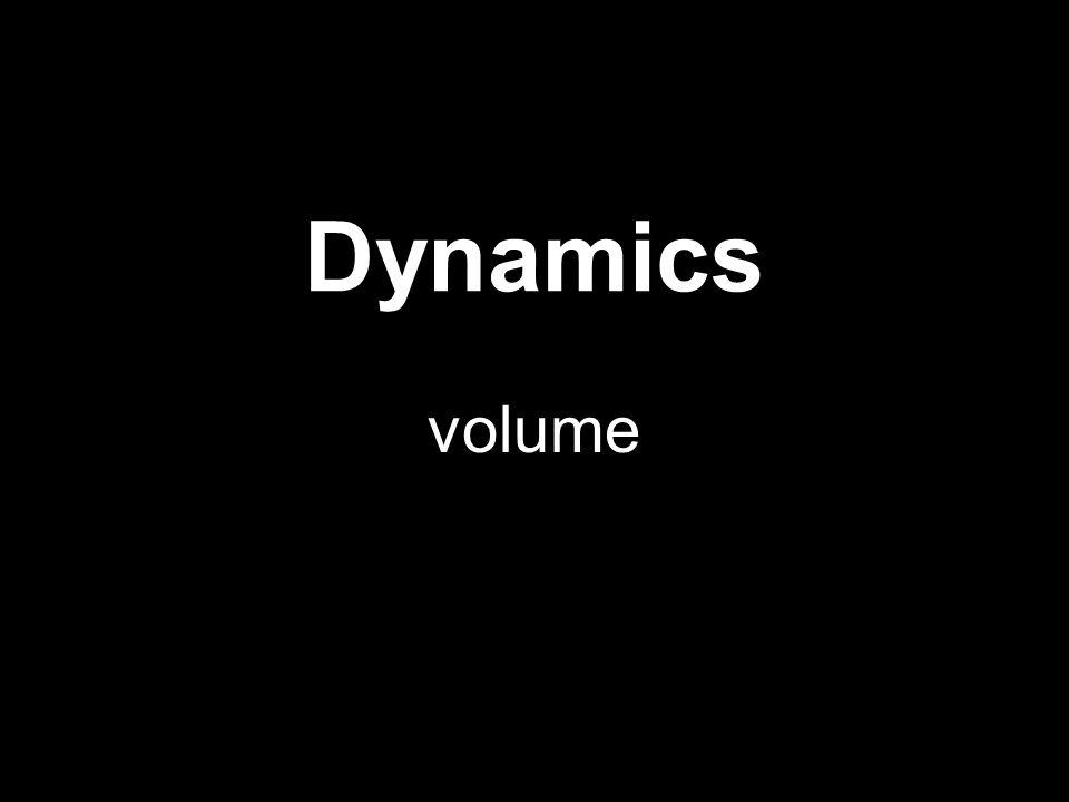Dynamics volume
