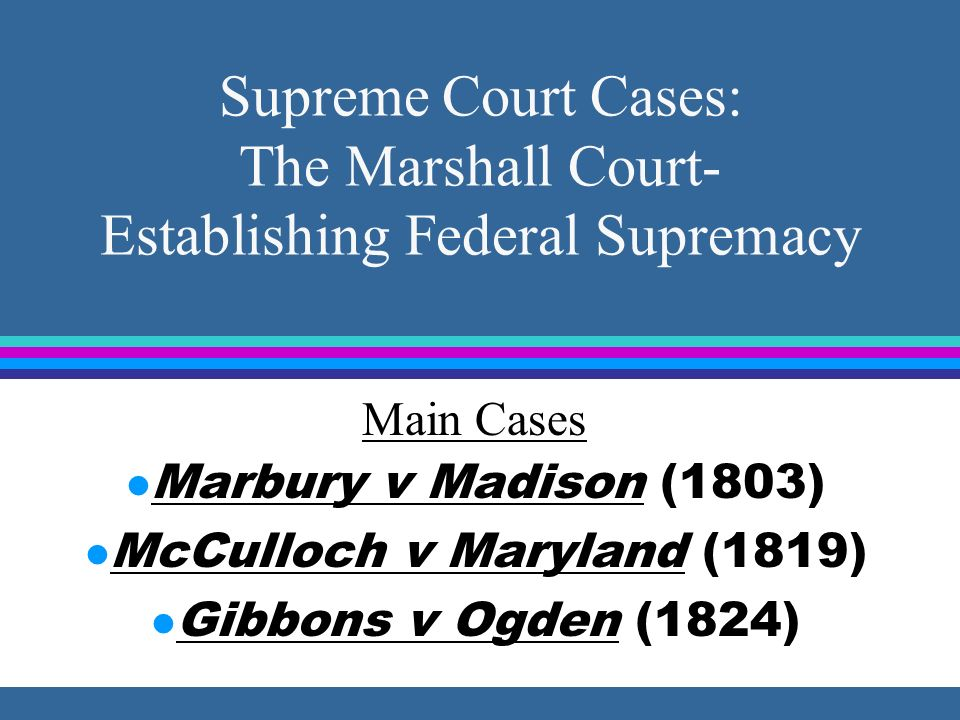 Judiciary Act of 1789 l 1789 law that created the Judicial Branch of the federal government.