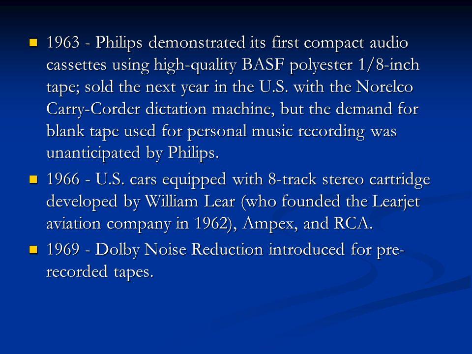 Tapes 1898 - Valdemar Poulsen patented in Denmark on Dec.