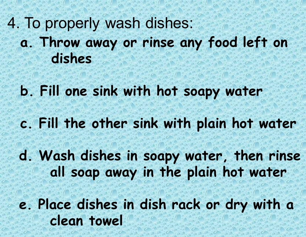 1.You should keep all surfaces and equipment clean.