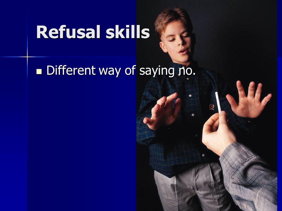 Lesson 8 Refusal skills Refusal skills