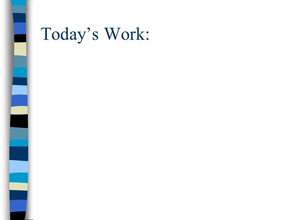Todays Work: