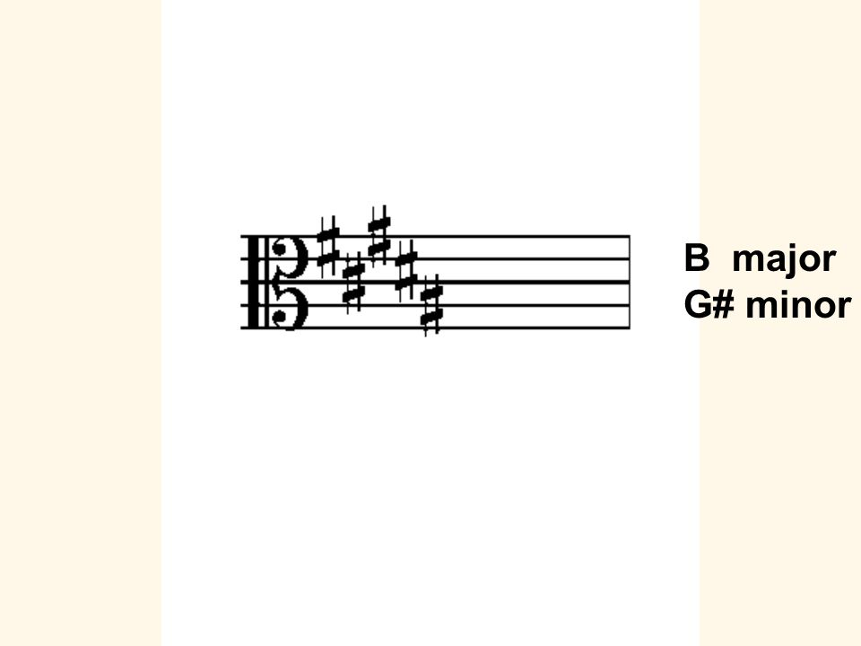 B major G# minor
