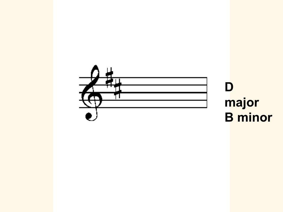 D major B minor