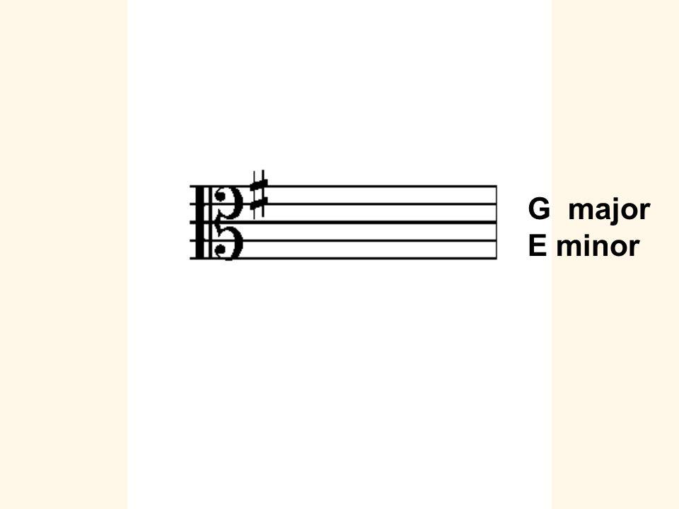 G major E minor