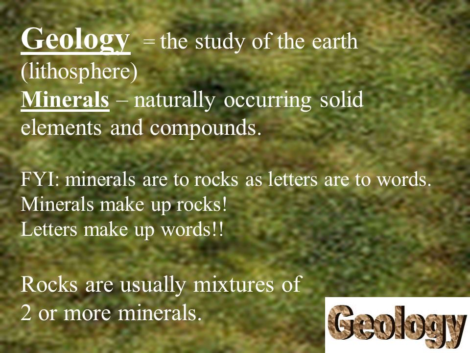 Some minerals can form….