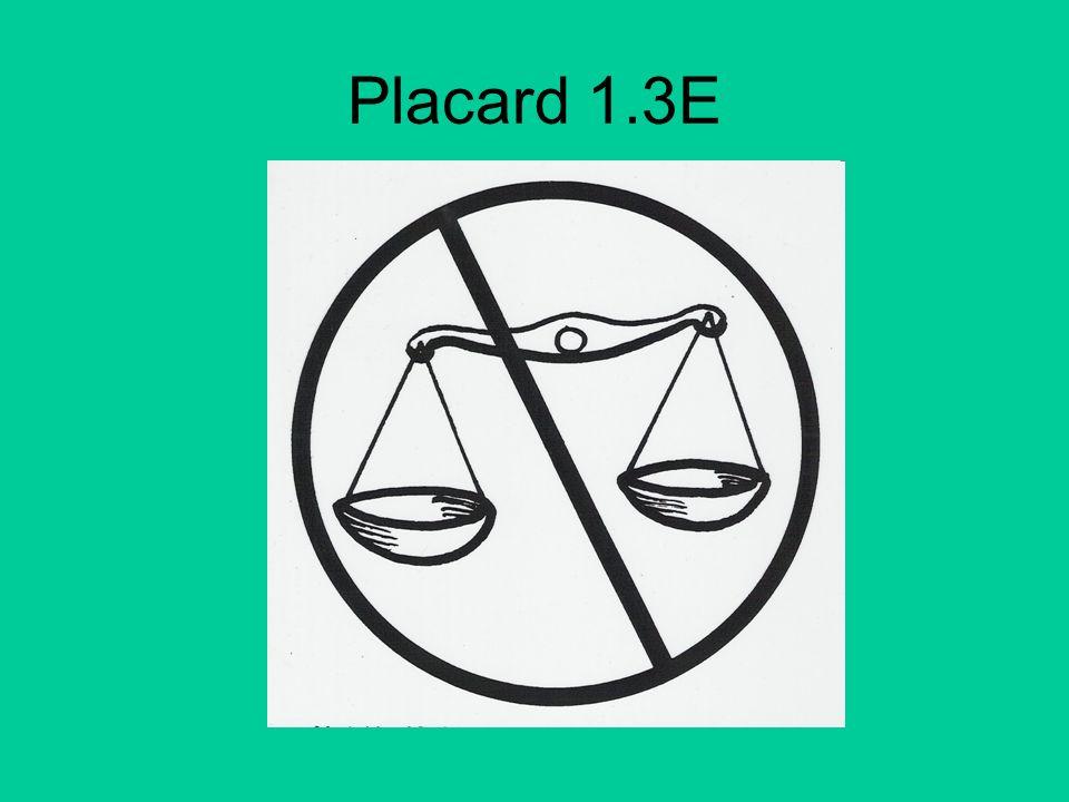 Placard 1.3E