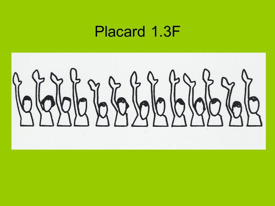 Placard 1.3F