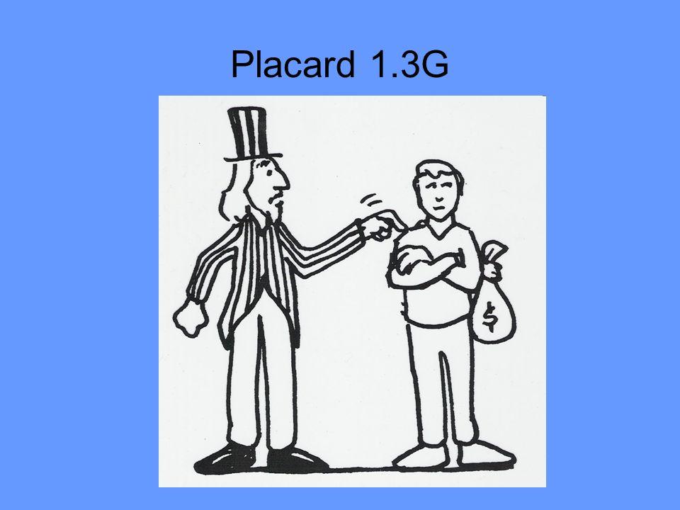 Placard 1.3G