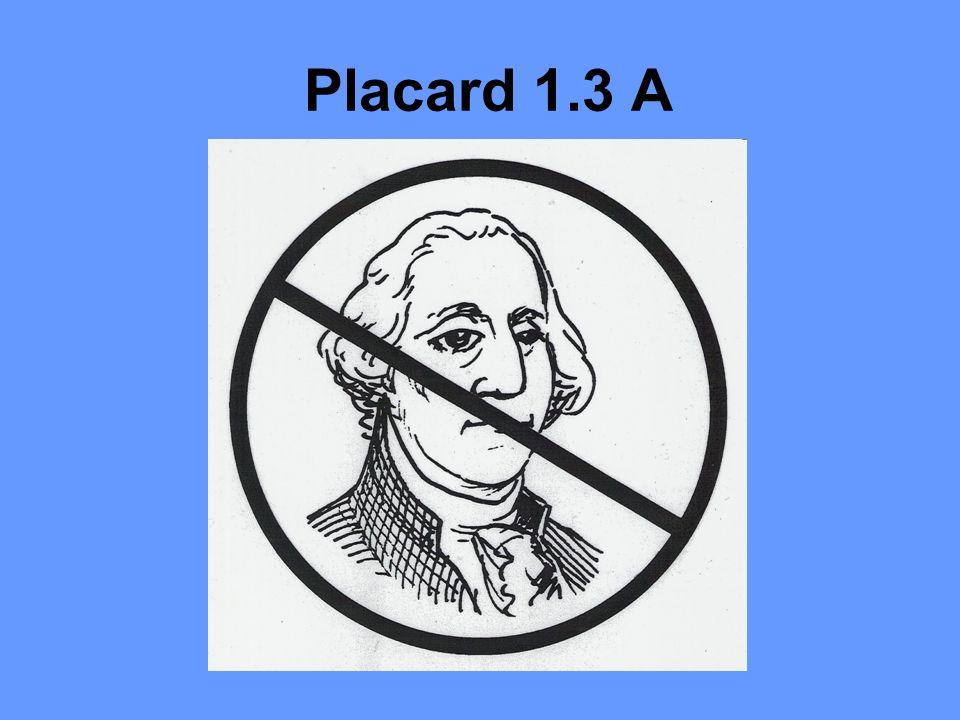 Placard 1.3 A