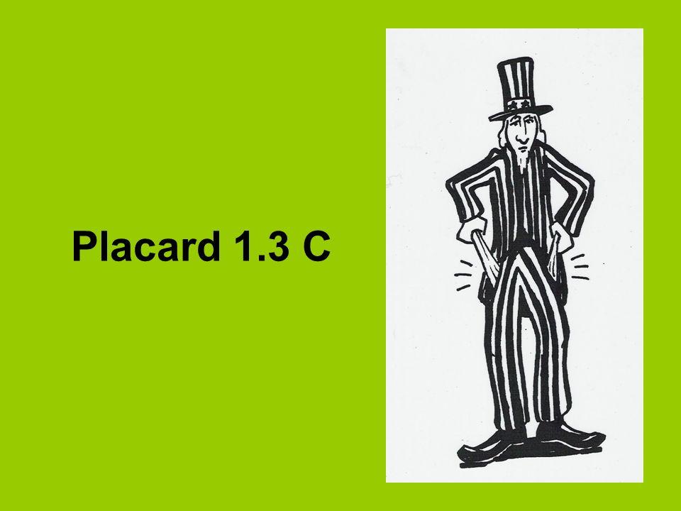Placard 1.3 C