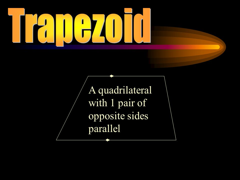 A quadrilateral with 1 pair of opposite sides parallel