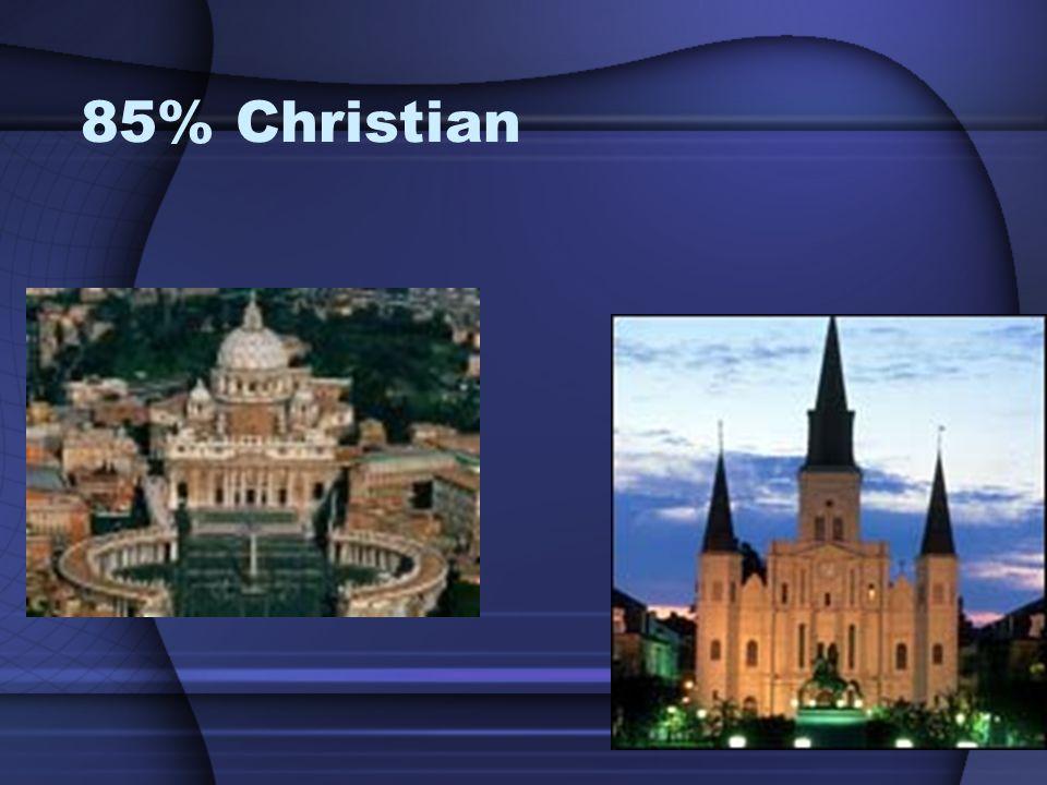 85% Christian
