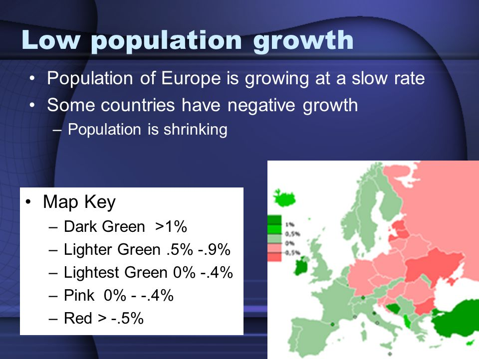 High literacy rate Over 95% of Europeans know how to read