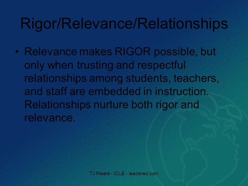 Relevance Why Do I Need To Know This?? TJ Mears - ICLE - leadered.com