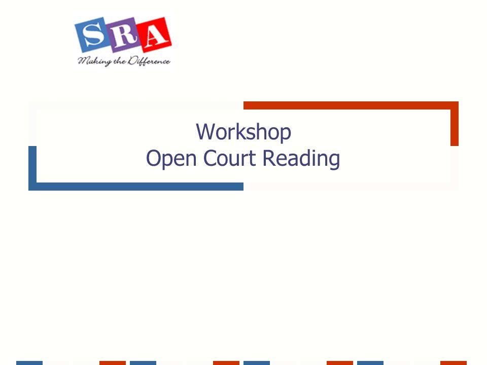 Workshop Open Court Reading