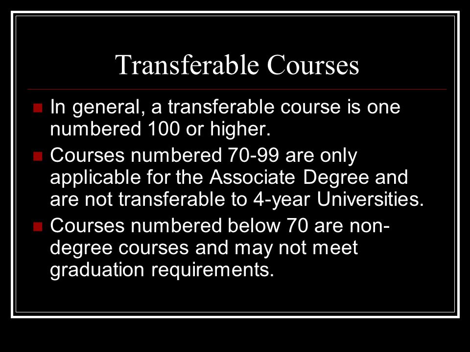 The Transfer Option If your goal is to transfer to a 4 year University/College it is essential that you work closely with your M.S.J.C.