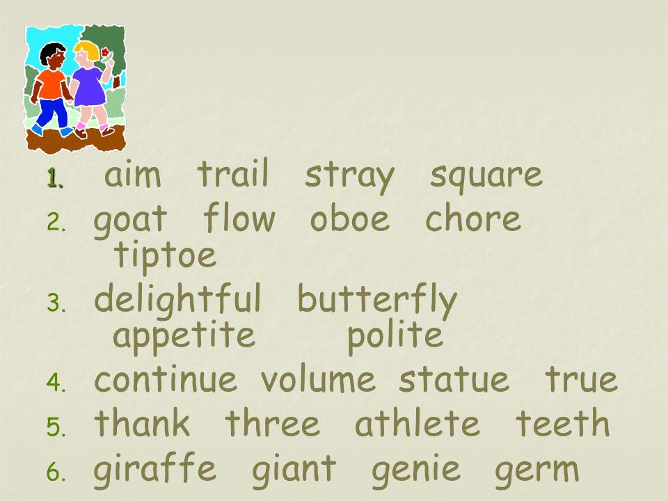 giraffe giant genie germ