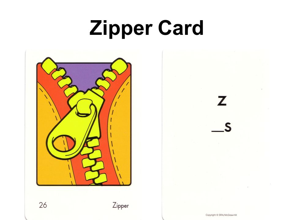 Zipper Card