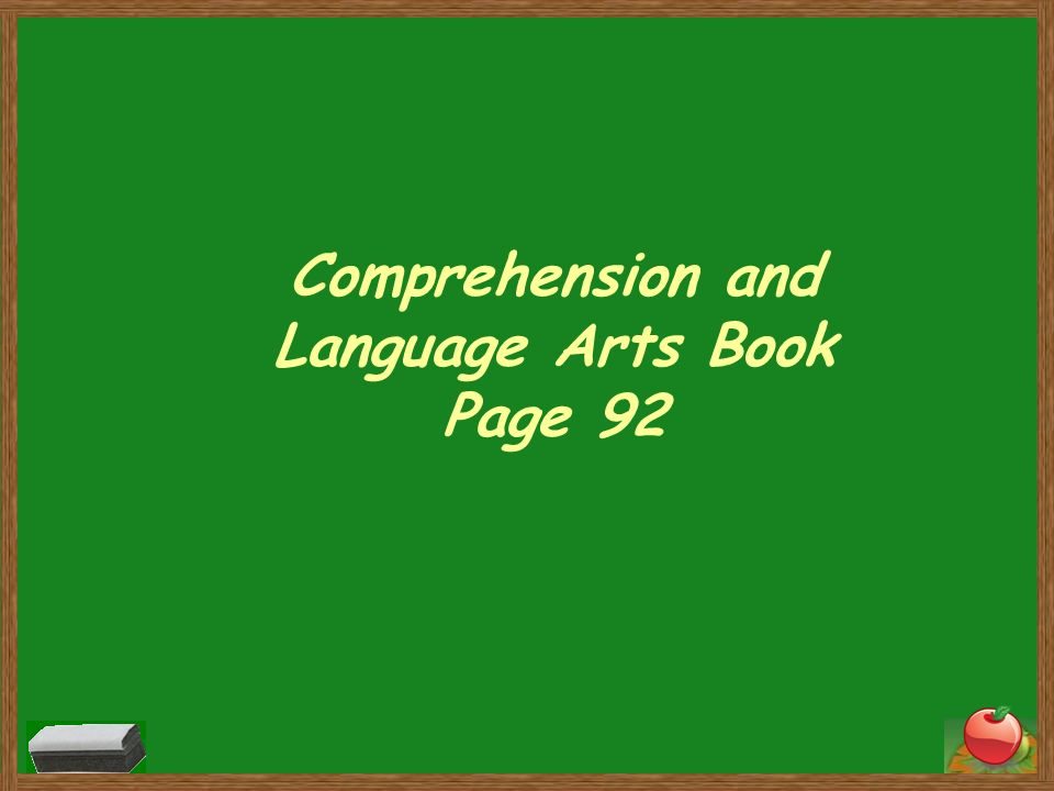 Comprehension and Language Arts Book Page 92