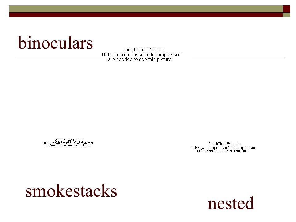 binoculars smokestacks nested
