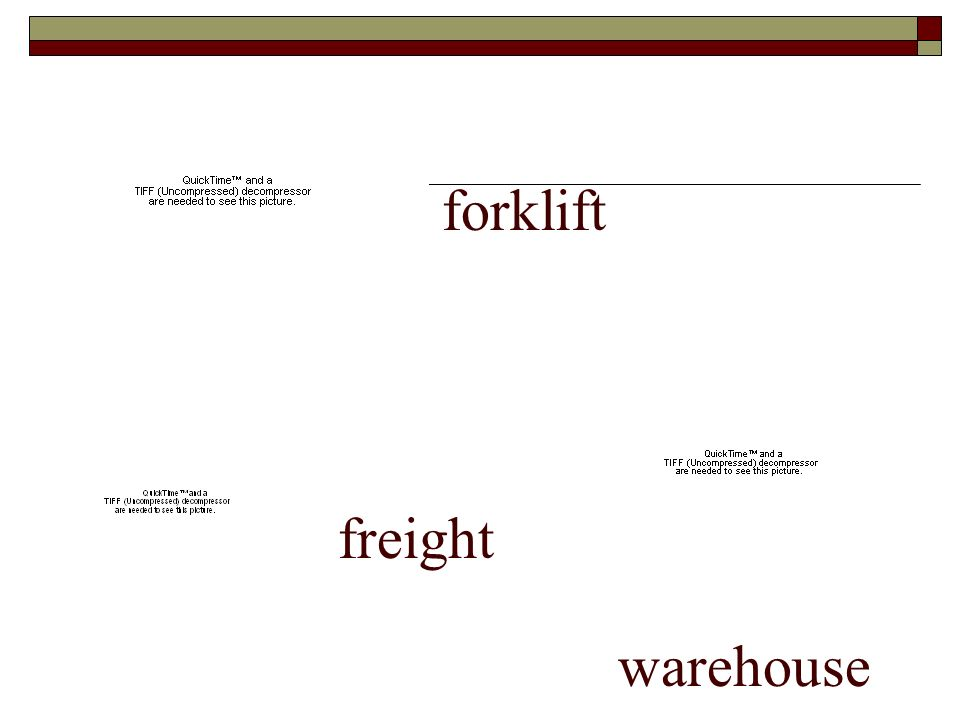 forklift freight warehouse