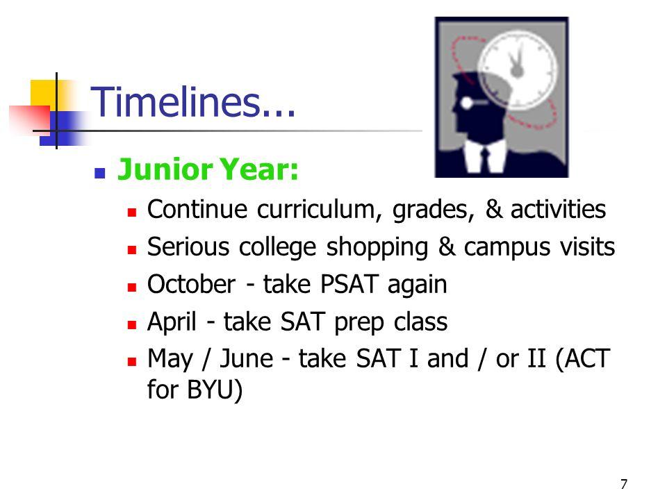 7 Timelines...