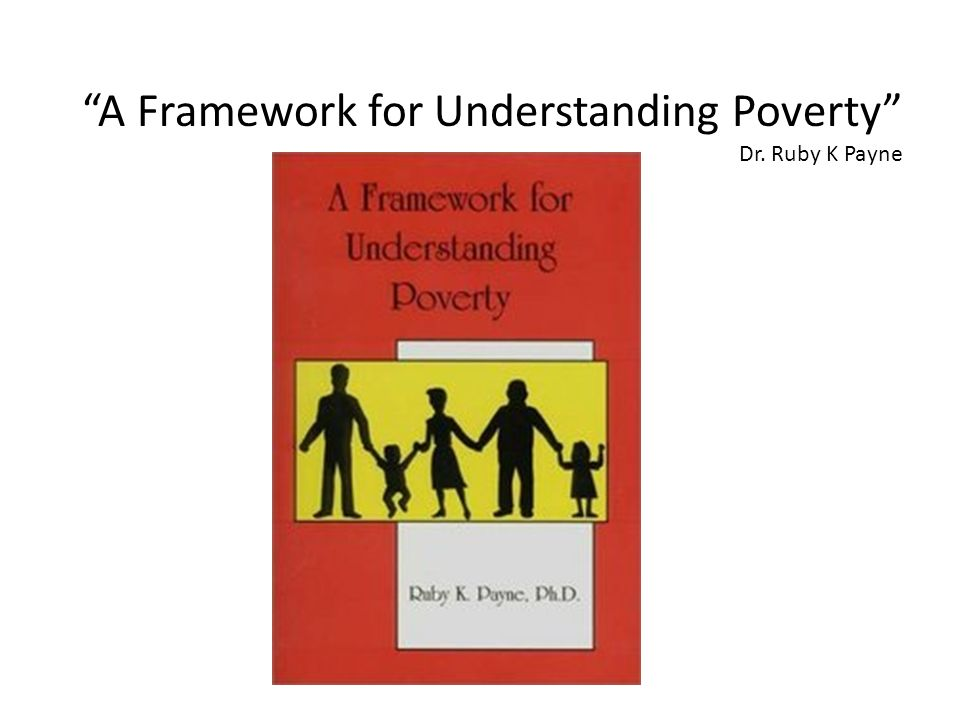 A Framework for Understanding Poverty Dr. Ruby K Payne