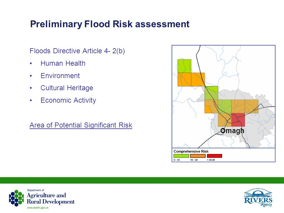 Preliminary Flood Risk assessment Floods Directive Article 4- 2(b) Human Health Environment Cultural Heritage Economic Activity Area of Potential Sign