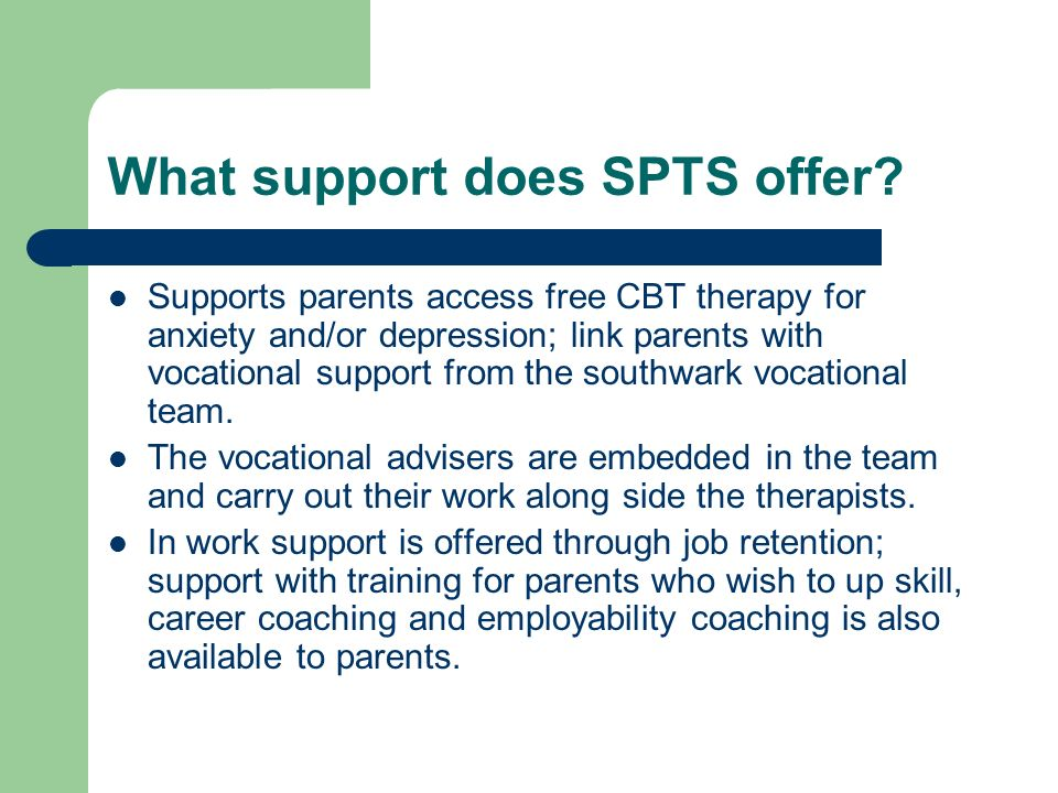 What support does SPTS offer.
