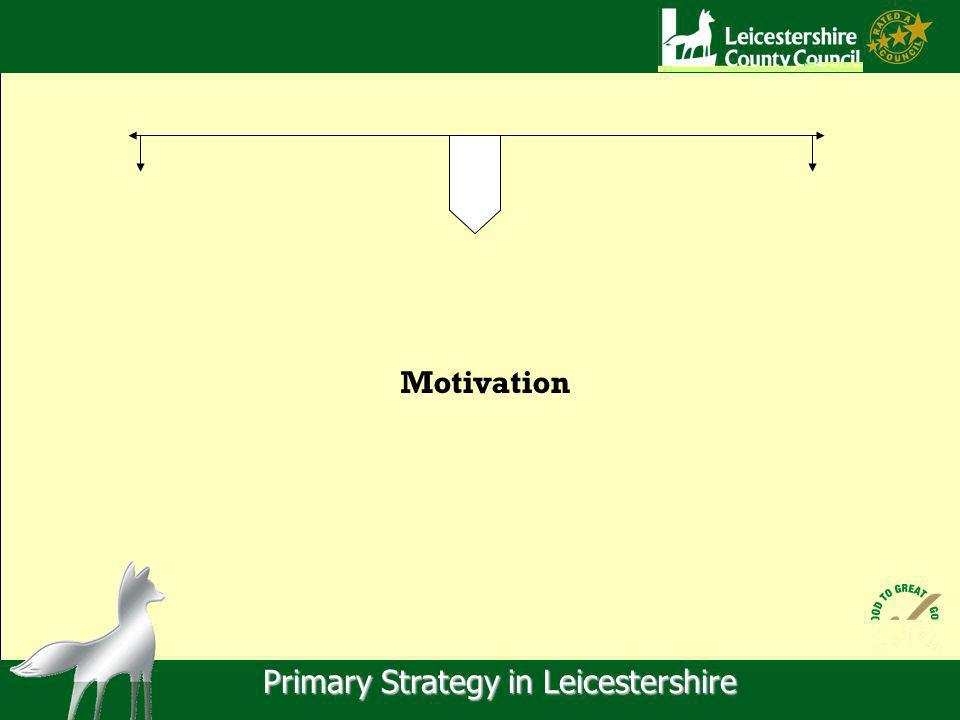 Primary Strategy in Leicestershire Motivation