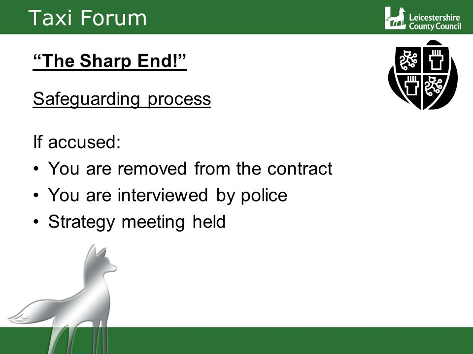 Taxi Forum The Sharp End.