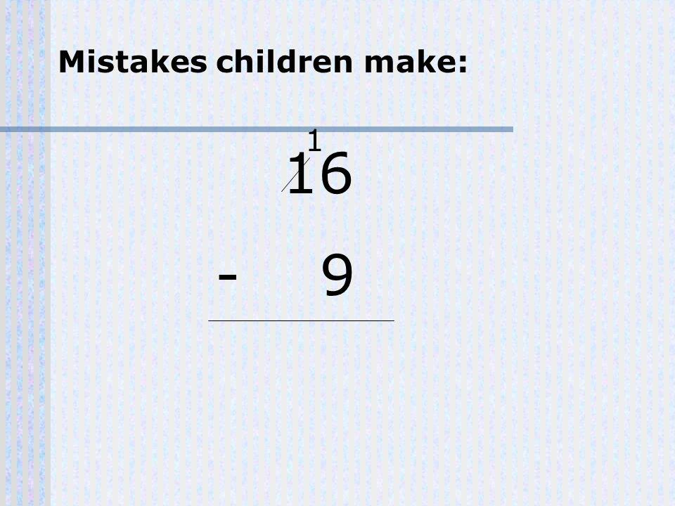 16 - 9 1 Mistakes children make:
