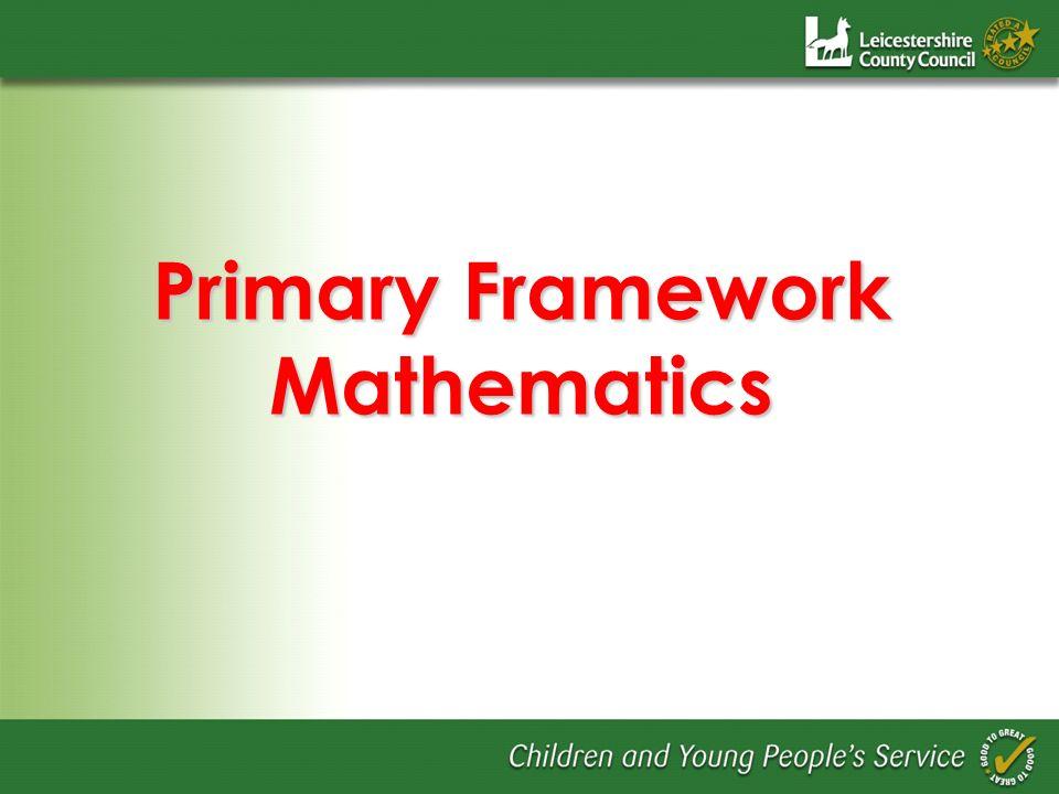 Primary Framework Mathematics