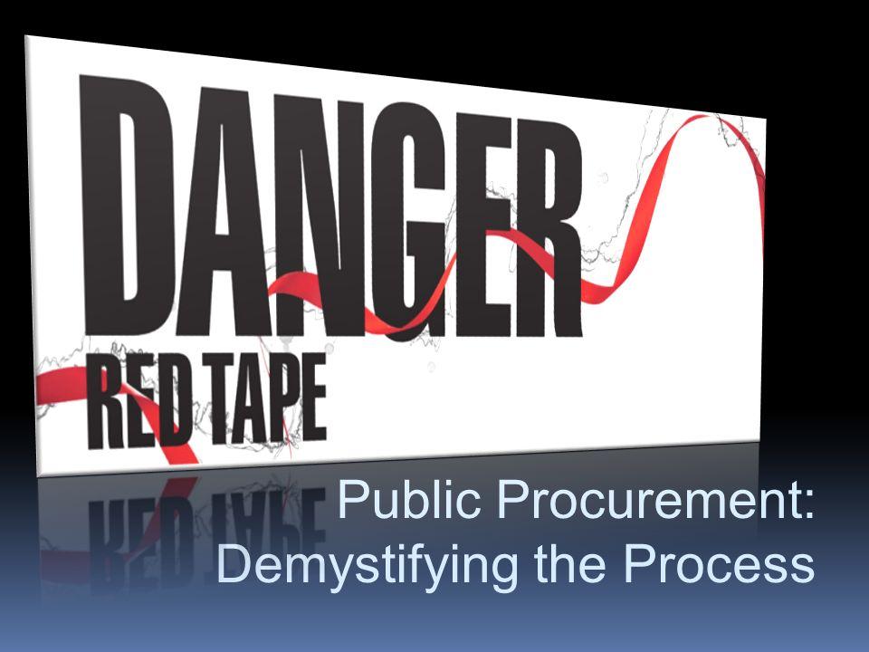 Public Procurement: Demystifying the Process